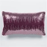 Sigma Sequined Tailored Pillow Burgundy Rectangle