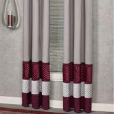 Sigma Grommet Curtain Pair Burgundy