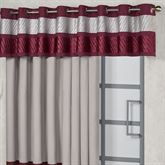 Sigma Wide Grommet Valance Burgundy 112 x 18