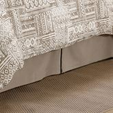 Trent Kick Pleat Bedskirt Taupe