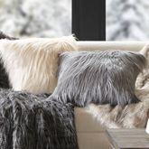 Edina Faux Fur Decorative Pillow 20 Square