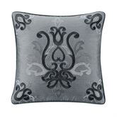 Trento Embroidered Pillow Steel Blue 16 Square