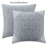 Trento Reversible Tailored Pillow Steel Blue 18 Square