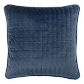 Natural Home Velveteen Piped Pillow Dark Blue 18 Square