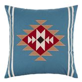 Wyatt Embroidered Square Pillow Blue Shadow 18 Square