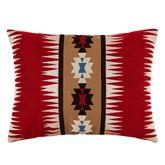 Wyatt Embroidered Rectangle Pillow Dark Red