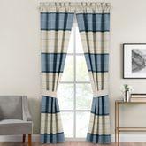 Silas Curtain Pair Blue 82 x 84