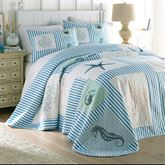 Sealife Bedspread Blue