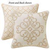 Mariella Reversible Embroidered Pillow Multi Warm 16 Square