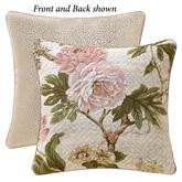 Mariella Reversible Floral Pillow Multi Warm 18 Square