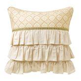 Mariella Ruffled Pillow Multi Warm 20 Square