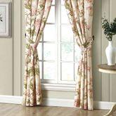 Mariella Wide Tailored Curtain Pair Multi Warm 100 x 84