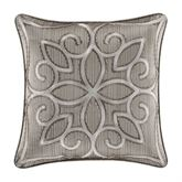 Deco Embroidered Pillow Silver 18 Square