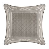 Deco Quilted Pillow Silver 20 Square