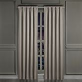Deco Lined Wide Curtain Pair Silver 100 x 84