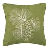 Cooper Pines Embroidered Pillow Multi Warm 18 Square
