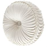 Angeline Reversible Tufted Pillow Ivory Round