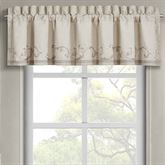 Angeline Lined Embroidered Valance Beige 88 x 21