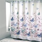 In the Garden Butterfly Shower Curtain Multi Pastel 72 x 72