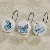 In the Garden Butterfly Shower Hooks Multi Pastel 12 Piece Set