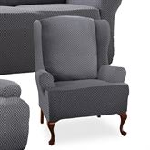 Glyndon Stretch Slipcover Wing Chair