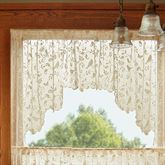 Sweet Songbird Lace Swag Valance Pair 72 x 36