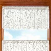 Sweet Songbird Lace Scalloped Valance 60 x 18