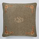 Rhapsody European Pillow with Embroidered Sham Multi Warm