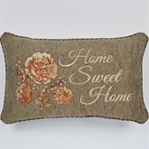 Rhapsody Home Sweet Home Embroidered Pillow Multi Warm Rectangle