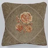 Rhapsody Floral Embroidered Pillow Multi Warm 18 Square