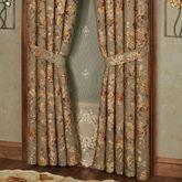 Rhapsody Wide Tailored Curtain Pair Multi Warm 100 x 84