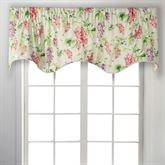 Jessamy Floral Scalloped Valance Light Almond 50 x 17