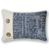 Brentwood Piped Pillow Dark Blue Rectangle