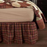 Abilene Plaid Gathered Bedskirt Multi Warm