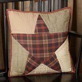 Abilene Star Patchwork Pillow Multi Warm 16 Square