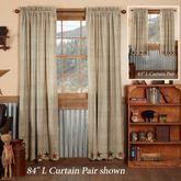 Abilene Star Scalloped Curtain Pair Multi Warm