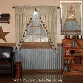 Abilene Star Scalloped Prairie Curtain Pair Multi Warm