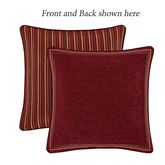 Garnet Reversible Piped European Sham