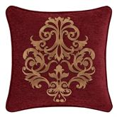 Garnet Embroidered Pillow 18 Square
