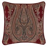 Garnet Piped Scrollwork Pillow 20 Square