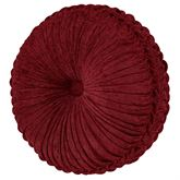 Garnet Pleated Tufted Pillow Round
