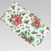 Holly and Ribbon Table Runner Red/Green 14 x 51