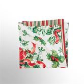 Holly and Ribbon Napkins Red/Green Set of Four