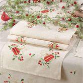 Holiday Ornament Table Runner Natural