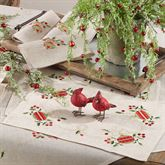 Holiday Ornament Placemats Natural Set of Four