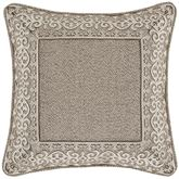 Milan Embroidered Pillow Taupe 18 Square