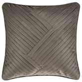 Milan Pleated Pillow Taupe 18 Square