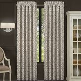 Milan Wide Tailored Curtain Pair Taupe 100 x 84
