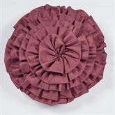 Bloomfield Ruffled Pillow Claret Round