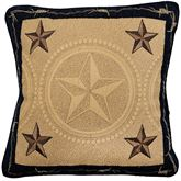 Forth Worth Embroidered Quilted Pillow Multi Warm 15 Square